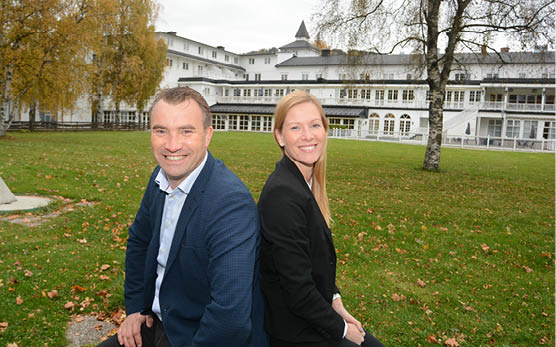 Kommersiell direktør Anstein Krekke and booking manager Gunn Heidi Holme are pleased about the investments at the Lillehammer Hotel.