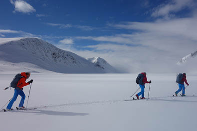 Management development group attending Haute Route in Jotunheimen