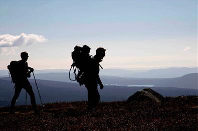 Hiking towards Nevelfjell