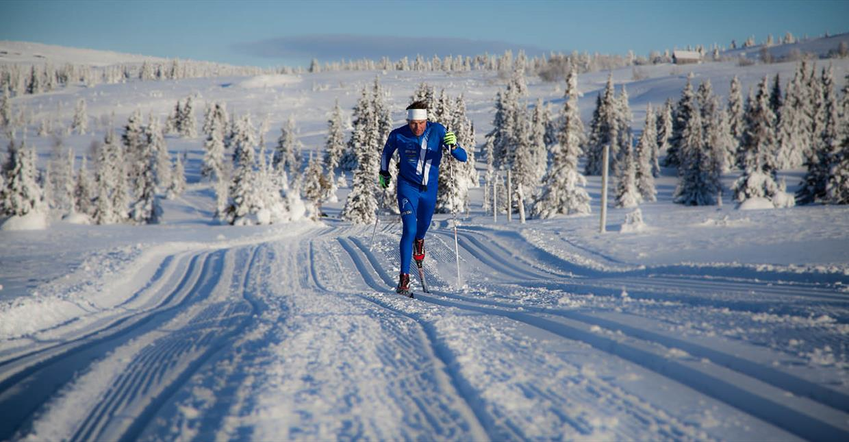 Cross-country skier Erling Jevne at Hafjell