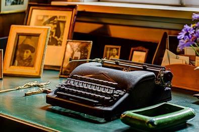 Bjerkebæk, Sigrid Undsets typewriter
