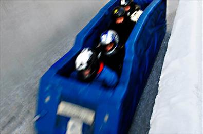 Bobraft in Lillehammer Olympic Sliding Centre